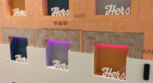 Schlüter®-KERDI-BOARD-NLT with different LED colours